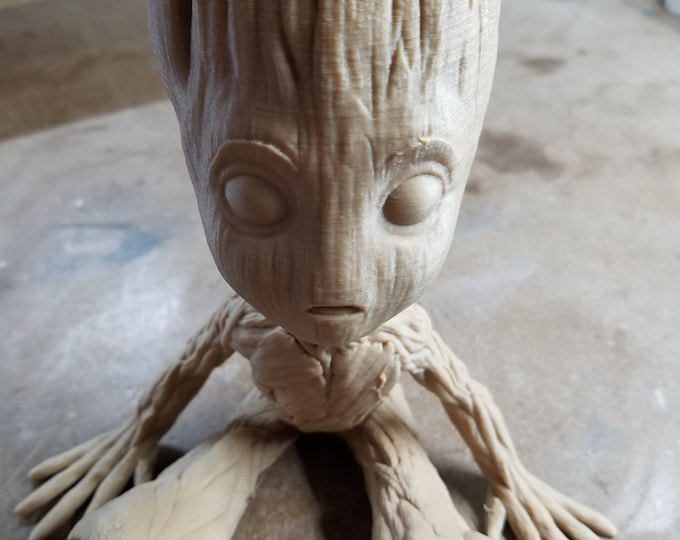 Baby Groot (3d printed with Wood PLA)