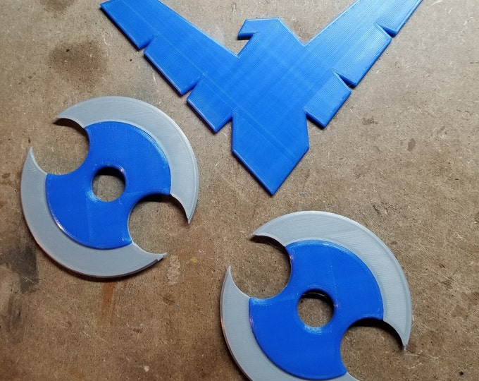 Nightwing Birdarangs (3d Printed)
