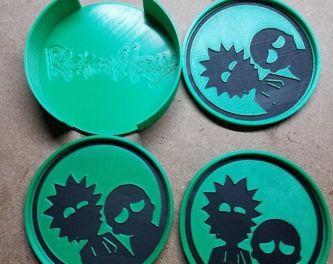 Rick and Morty Coasters (3d Printed Coaster Riiiiiiiick)