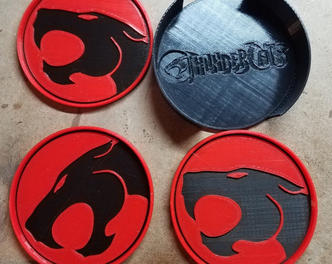 Thundercats Coasters (3d Printed from animated series)