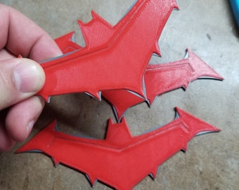 Red Hood Batarangs (3d printed)