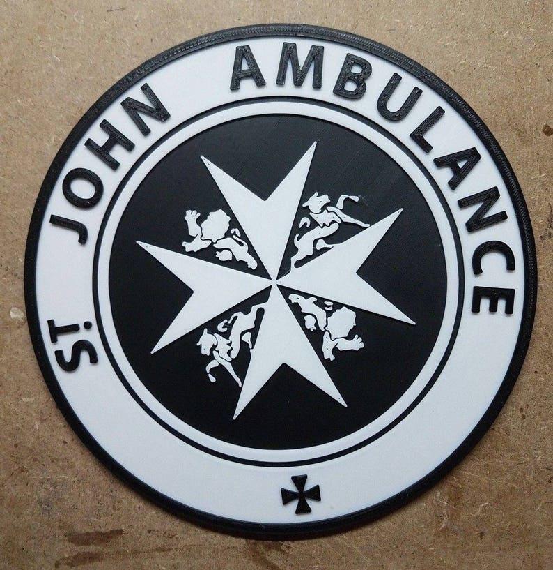 St. Johns Ambulance Tardis Sign 3d Printed Doctor Who image 0