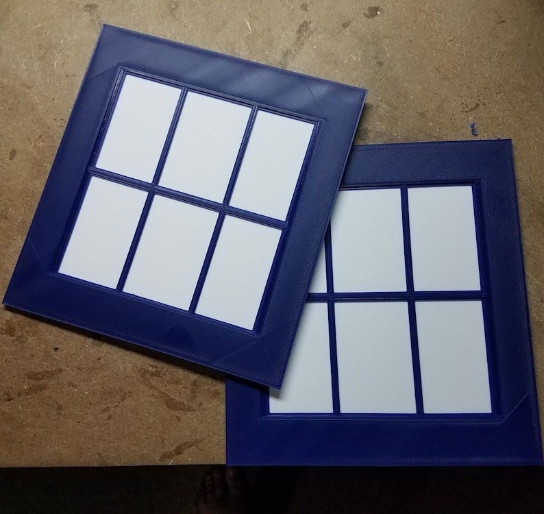 Tardis Door Windows 3d Printed image 0