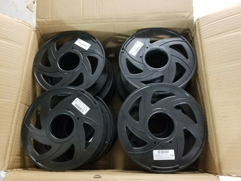 12 Empty 3D Printer Filament Round Spools great for crafts image 0