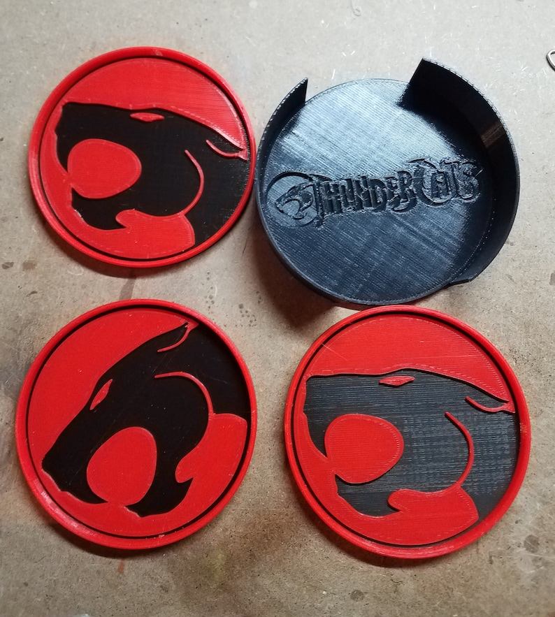Thundercats Coasters 3d Printed from animated series image 0