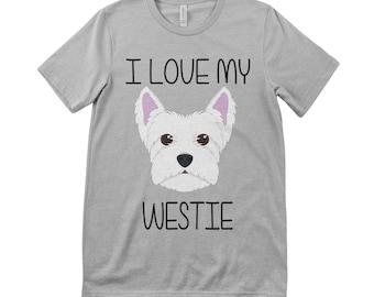 I Love My Westie Tee T.Shirt West Highland Terrier