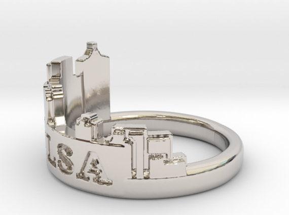 Tulsa Skyline Ring Tulsa Ring Oklahoma Ring Tulsa Jewelry Etsy