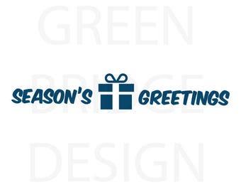 785c6baf6f0c1 Seasons greeting svg | Etsy