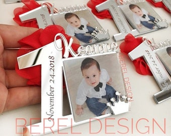 10 Pcs Personalized Baby Photo Frame First Birthday Favor InvitationMagnet