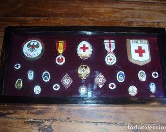 Red Cross Badge Showcase