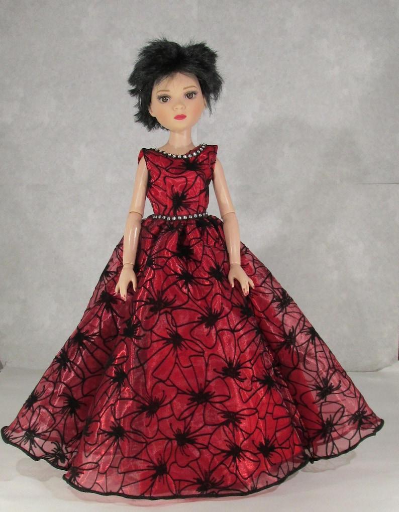 c784638726dd Ellowyne Wilde Red Velvet Ball Gown | Etsy
