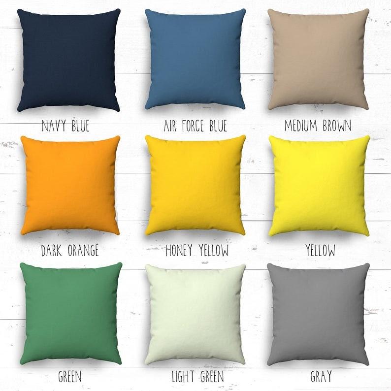 Baby name pillowcase Custom name pillow cover Personalized boy pillow cover Navy personalized pillowcase