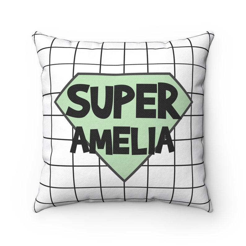 Superhero girl Mint nursery decor Nursery decor girl Personalized supergirl pillow case Unique baby girl gifts