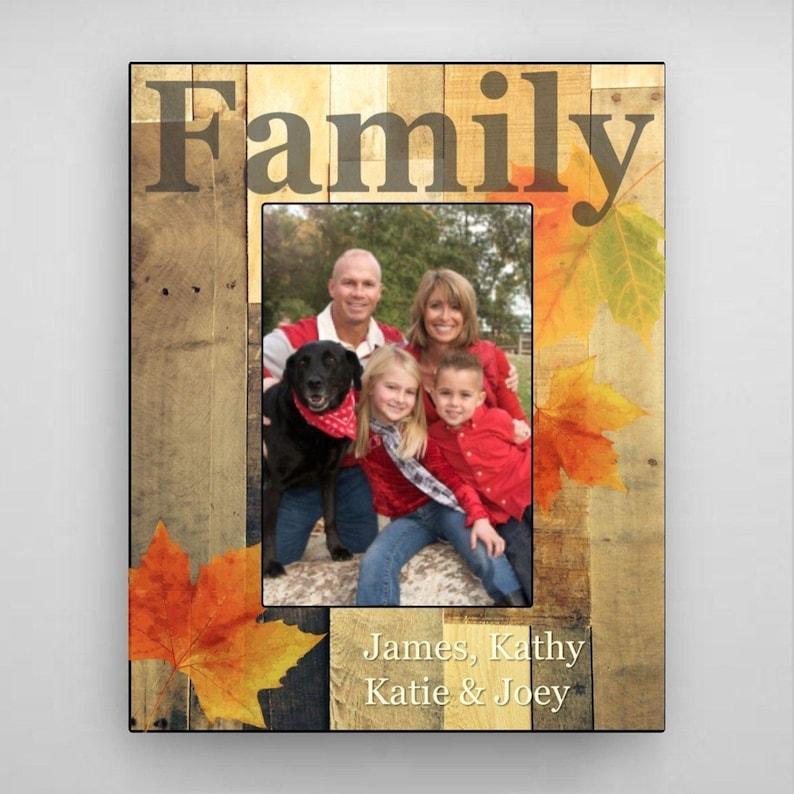 Fall Photo Frames Personalized Family Fall Picture Frame Fall Frames Family Photo Frames Fall Decorations Fall Home Decor