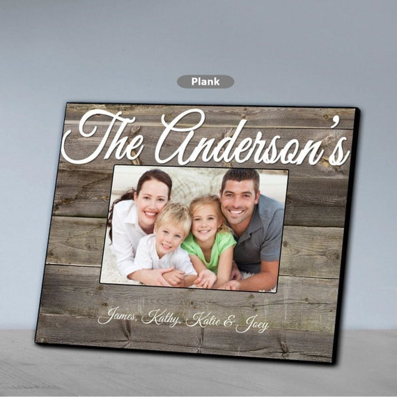 Personalized Plankwhitewash Family Picture Frame Family Etsy