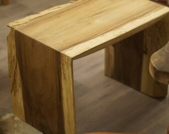 Monkey Pod Wood Live Edge Waterfall end table