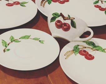 Orchard dinnerware plate setting