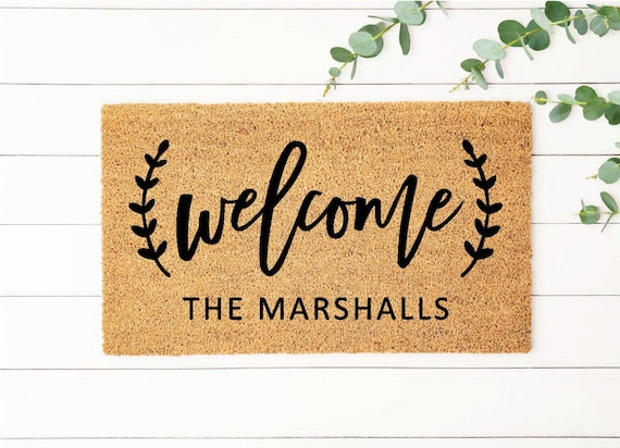 Shop Farmhouse Doormat Personalized Welcome Mat Personalized   Etsy from Etsy on Openhaus