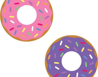 INSTANT DOWNLOAD!Sprinkle Donut Doughnut SVG, Eps, Dxf, Png, Pdf, Donut Cut file, Donut cutting file, Donut, Silhouette Cricut Vinyl Design