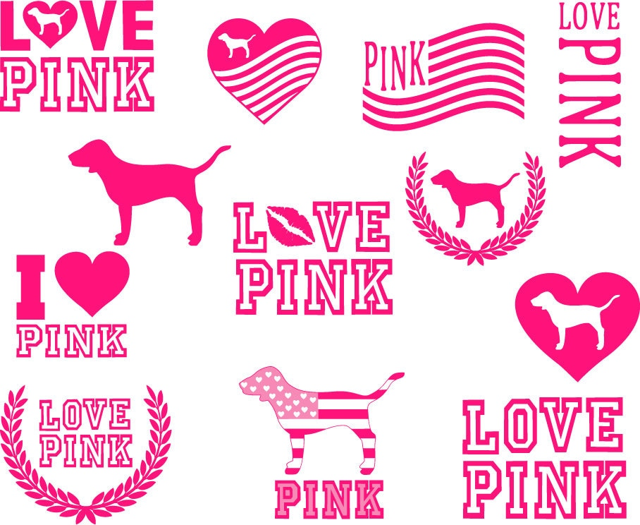 Download Love pink svg pink love svg love pink clipart pink love | Etsy
