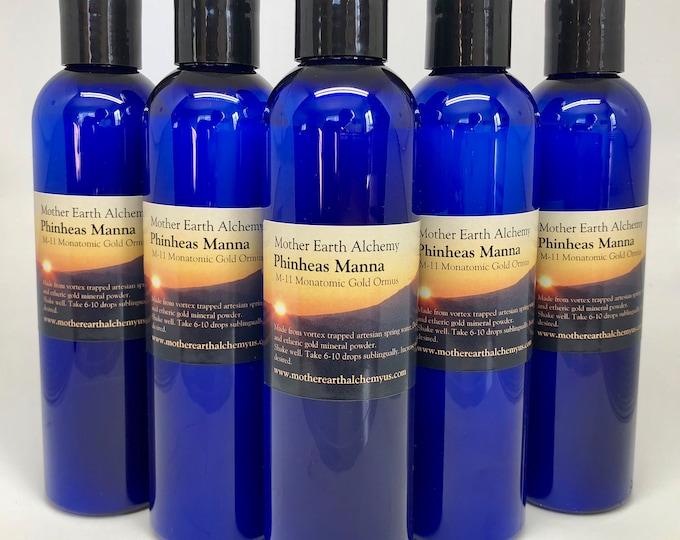 5 - 8oz bottles of PHINHEAS MANNA - Monatomic gold ormus