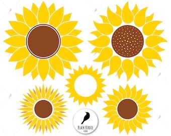 Sunflower svg, sunflower clipart, sun svg, flower svg, sunflower monogram svg, sun frame svg cricut – eps, dxf, png, pdf, svg – digital file