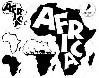 Shape Of Africa Map.Africa Shape Etsy