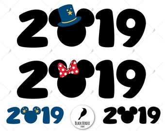 mickey 2019 svg new year mickey svg mickey 2019 clipart minnie 2019 svg mickey hat svg disney cricut eps dxf png pdf svg files
