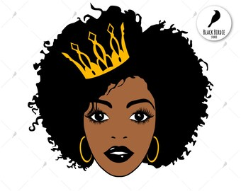 Black girl afro cartoon
