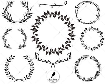 wreath clipart etsy rh etsy com wreath clipart free wreath clipart transparent background