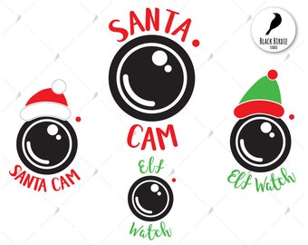 Santa cam svg, santa cam clipart, elf cam svg, elf watch svg, watch clipart, christmas svg for cricut – eps, dxf, png, pdf, svg – files