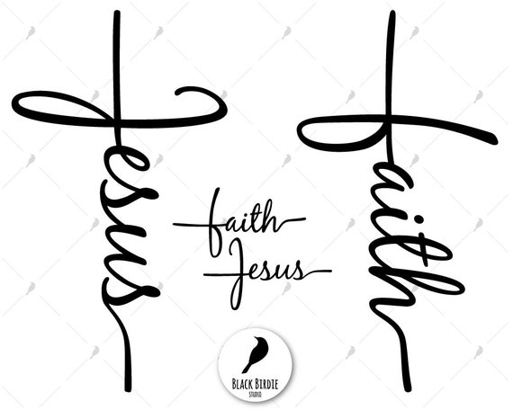 faith cross svg jesus cross svg faith svg jesus svg jesus etsy Faith Apparel Hats image