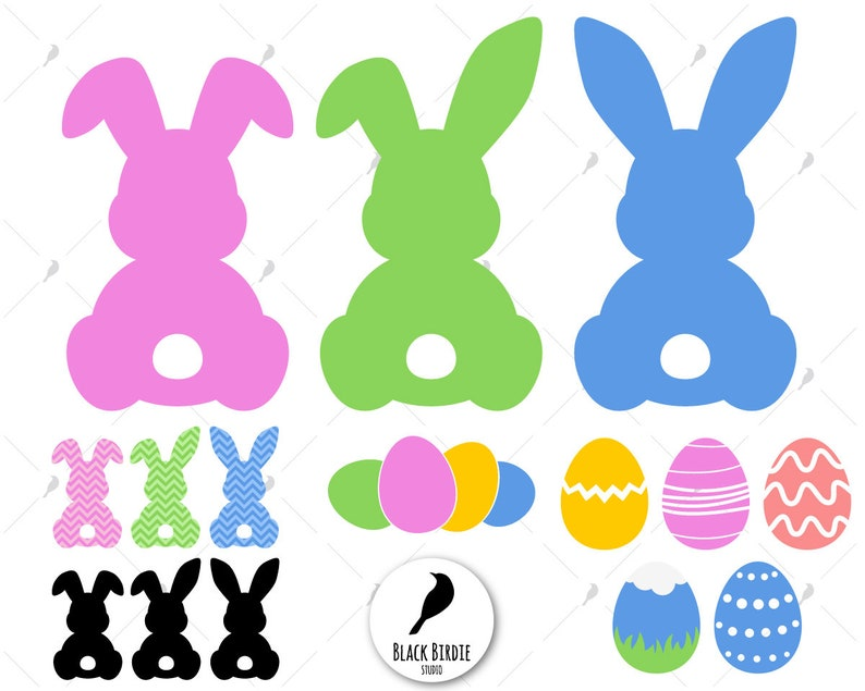 8136625b0 Bunny svg three easter bunnies svg easter svg easter | Etsy