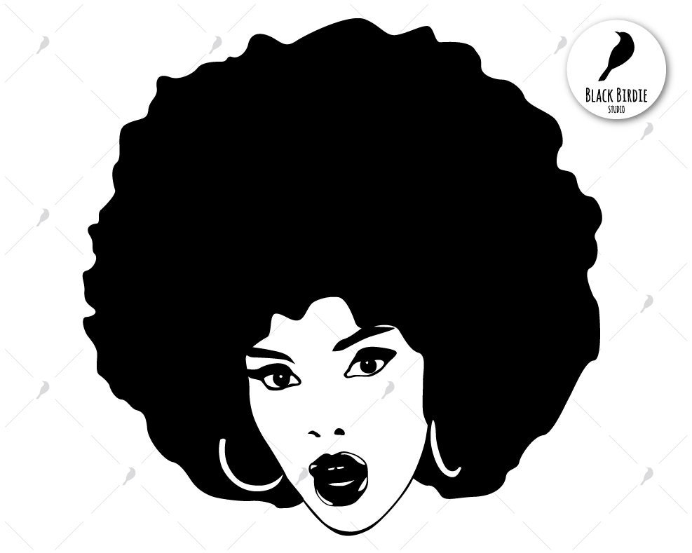 Black Woman Svg Black Woman Clipart Afro Svg Afro Clipart  Etsy-3789