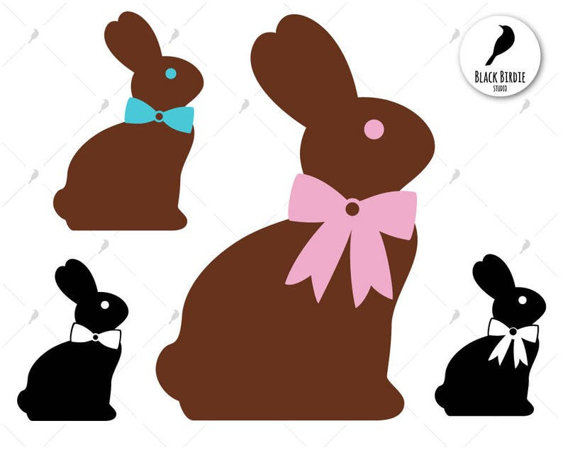 7d0122942 Chocolate Easter bunny svg easter svg easter clipart | Etsy