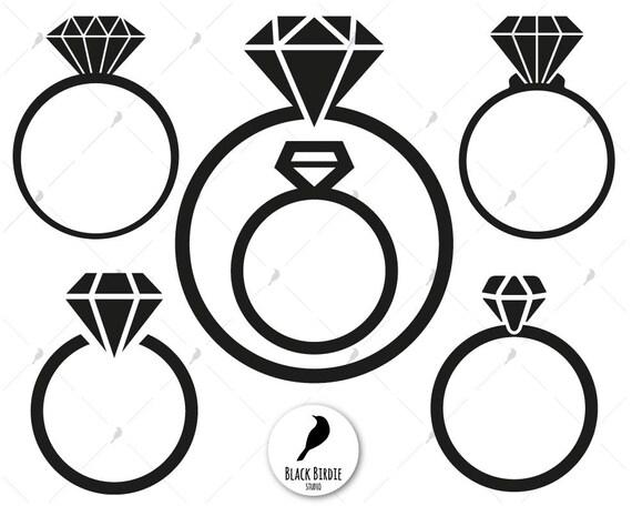 Diamond ring svg diamond ring clipart diamond svg monogram ...