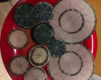 Cute Maasai table mats for your coffee