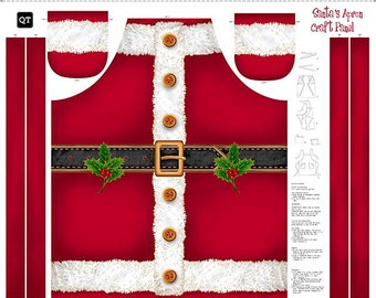 Santa's Apron Panel by Quilting Treasures