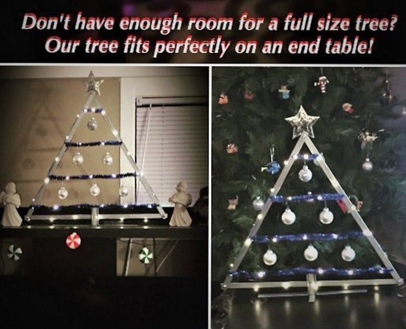 Industrial Christmas Tree Table Top Christmas Tree Apartment Christmas Decoration Rustic Industrial Style Christmas Ornament Display Tree