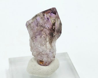 Small Smoky Amethyst Point from Zimbabwe, Africa with base - natural - raw