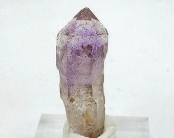 Small Amethyst Point from Zimbabwe, Africa with base - natural - raw