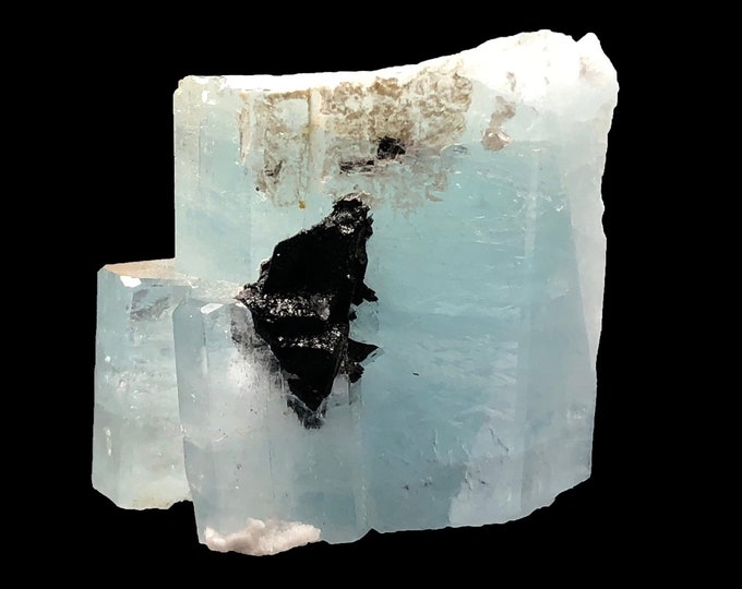 Cobble Creek: Decent sized chunk of (57g) Aquamarine Specimen with Base