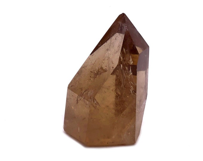 Cobble Creek: Small - Great Color - Polished Natural Citrine Point from Brazil