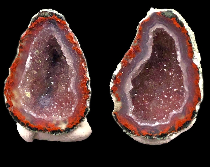 Pair of Tabasco Geodes (A+) from Mexico - Looks like a pair of Avocados!