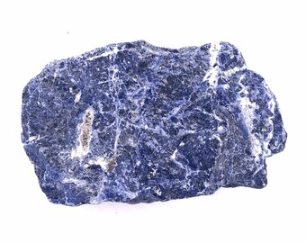 Cobble Creek: Large 1.7LB Chunk of Blue Sodalite Natural Raw Rough from Brazil