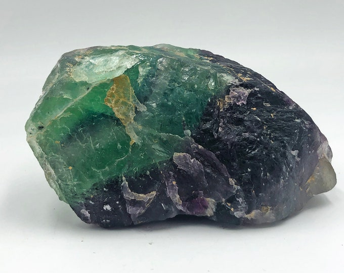 Cobble Creek: 1.2 LB  -  Green / Purple Fluorite from Mexico - Raw - Natural - Rough - Chunk