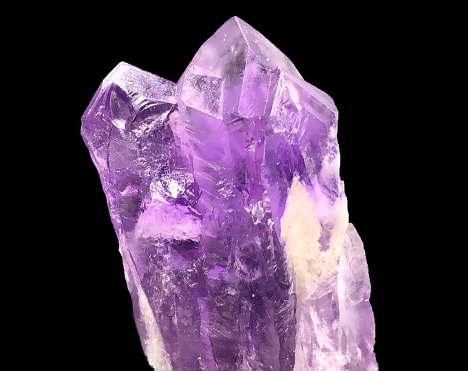 "3.6""/ 63 g - Amethyst Crystal Point from Brazil - Frosty / Laser / Bahia"