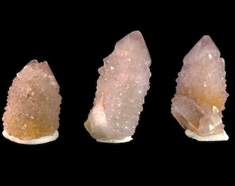 3 Spirit Cactus Quartz Points - Lavender Amethyst from South Africa