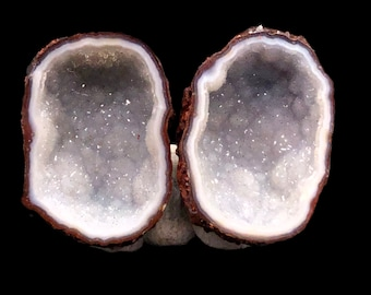 Pair of Tabasco Geodes (A+) from Mexico - Looks like a pair of coconuts!
