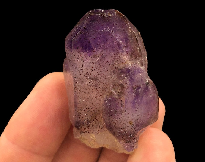 Amethyst Brandberg Quartz Point from Brandberg Mountain Range in Namibia, Africa - Natural - Raw - Great Purple!